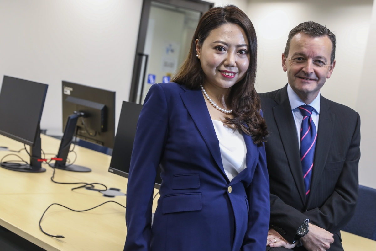 Shirley Fu (left), principal at SF Lawyers and Stuart Fuller, head of KPMG Law.
